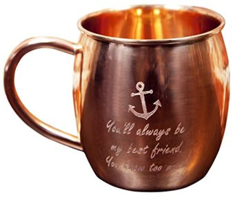 Custom Engraved Pure Copper Barrel Moscow Mule Mug