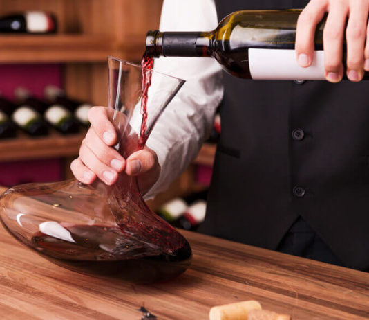 red and white wine decanters