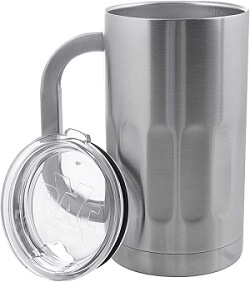 Stainless Steel Beer Mug with Lid