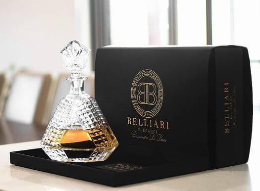 BELLIARI - Triangle Whiskey Decanter