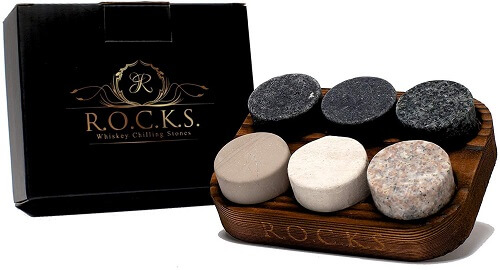 Handcrafted Premium Granite Round Sipping Rocks