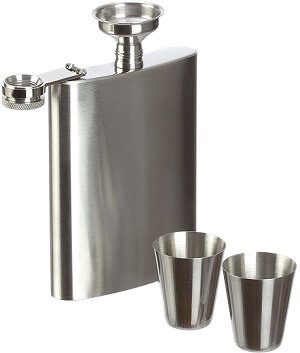 Hip Flask Set Silver