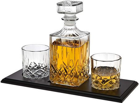 Whiskey Decanter and Glasses Barware Set